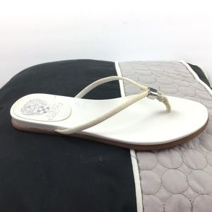 Vince Camuto White Flat Sandals
